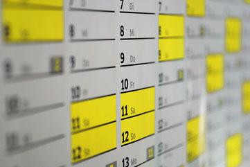 Terminkalender der Fördervereins der Erich Kästner Realschule (EKRS) in Steinheim