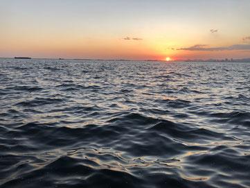 鳴尾浜の夕方