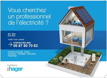 Partenaire Hager electricité générale rénovation art'elec Roy en Charente