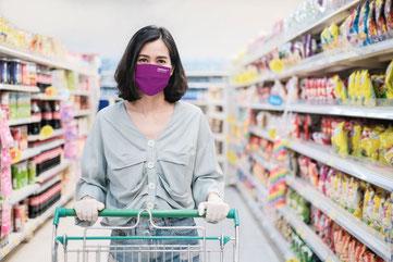 Viroblock® Mundschutzmaske mit eigenem Logo oder Design von Feld Textil GmbH - https://www.krawatten-tuecher-schals-werbetextilien.de/ OP Maske aus Deutschland