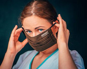 Antiviraler Atemnschutz, antiviraler Mundschutz von Feld Textil GmbH