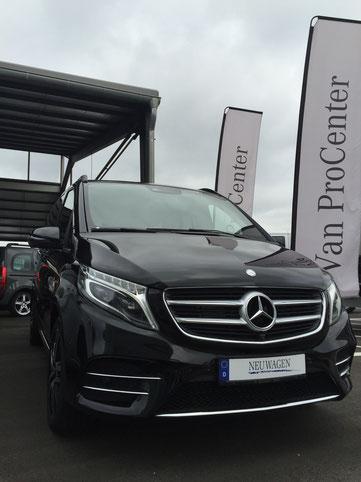 Mercedes V-Klasse mit Vollausstattung und 7 Sitze für Flughafenfahrten oder Shuttle von A nach B für faire Preise
