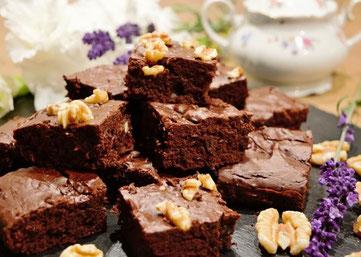 Brownies mit Schoko und Walnüssen