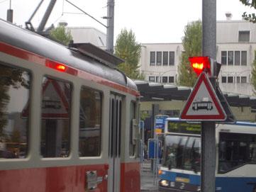 LED Drehlicht im Busbahnhof Dietikon