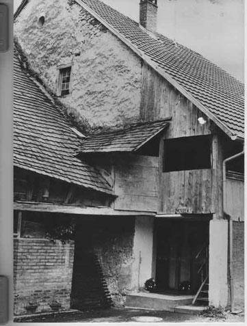 """an der """"Chotgass"""" (Obere Gasse) Foto: Ch. Benz, um 1980"""