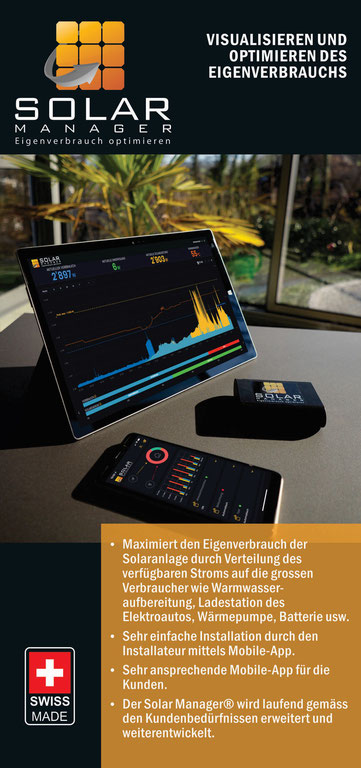 Flyer Solar Manager Seite 1