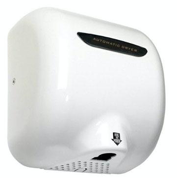 Secador de Manos Acero Inoxidable. Óptico Blanco. Voltaje 110V. Velocidad de aire 90m/s. Tiempo de Secado de 7 a 16 segundos. Peso: 4.5 kg. Medidas: 295 X 171 X 325 mm