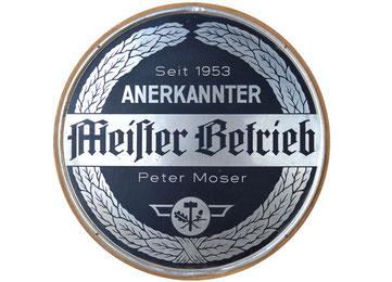 Die Schreinerei Peter Moser seid 1953 in Nußdorf