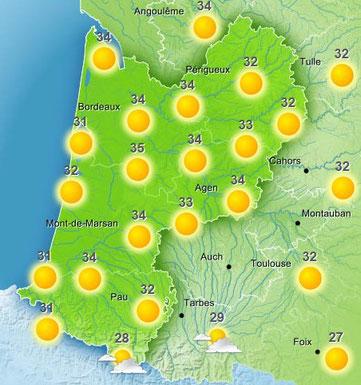 Prévisions météo France pour le 5 juin 2015