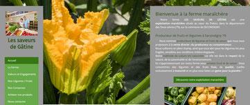 site internet agricole les saveurs de Gâtine créé avec e-cime.fr
