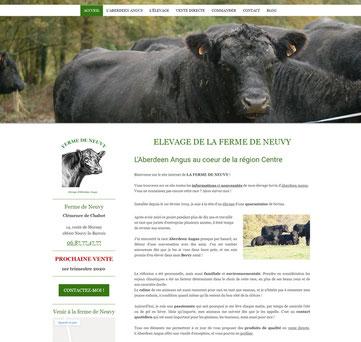 la ferme de Neuvy, site internet créé avec e-cime, formation de groupe optimisé SEO