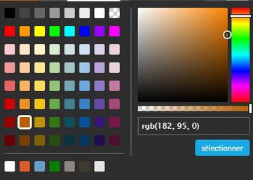 tableau des couleurs par e-cime.fr création de site web