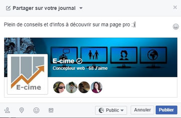 Faire Connaitre Sa Page Pro Facebook Seo Creation Site Et Web