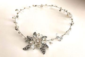 vincha de novia, tocado de novia, vincha de perlas
