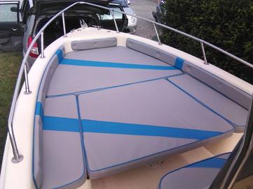 revêtement sur mesure de coussins pour bateau