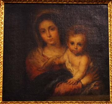 La Virgen de la servilletta, tableau emblématique du peintre sévillan Murillo, plus italien qu'espagnol peut-être.