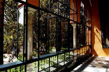 Photographie, Andalousie, Séville, palais, Alcazar, véranda, fenêtre, balcon, galerie, couleurs, art, architecture, voyage, vacances, Mathieu Guillochon