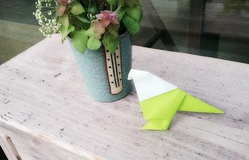 折り紙 はと 置き土産