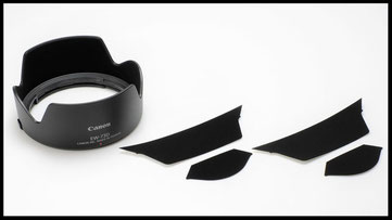 Lens hood anti-reflection strip