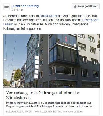 Unverpackt Luzern - Luzerner Zeitung