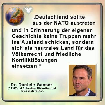 Friedenszitat Daniele Ganser