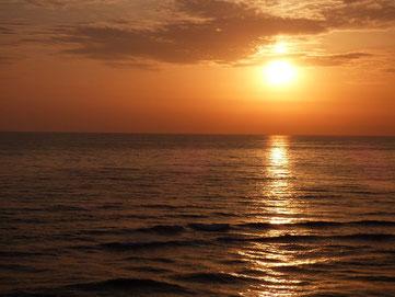 今日も夕日がきれいです♪