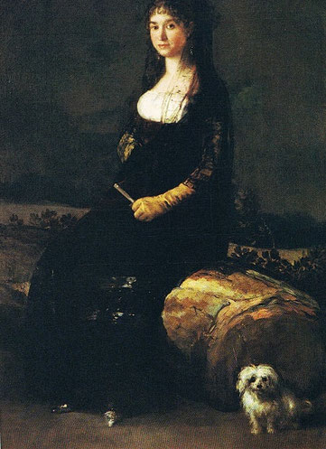 Francisco de Goya-Doña Joaquina Candado en el Museo San Pio V de Valencia.