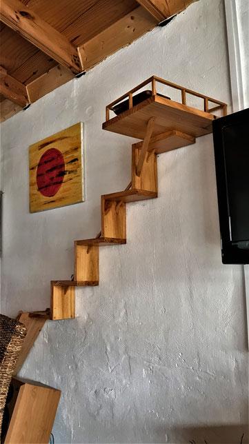die Treppe zum Futter