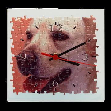 """Horloge """"Puzzle"""". 19cmx19cm."""