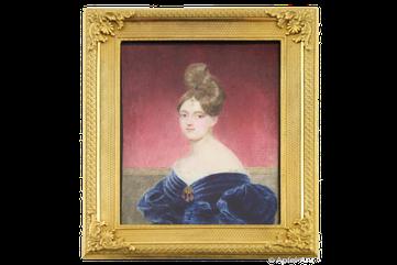 Emanuel Thomas Peter – Damenportrait, Miniatur