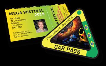 Printed Festival Passes & Car Passes