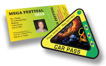 Custom Printed Festival Passes & Car Passes