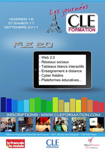 Affiche des Journées CLE Formation à Paris - 2011
