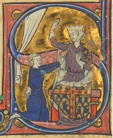 Fig. 2 - Le Roman de la Poire, 13e, France, BNF, f. 41v.