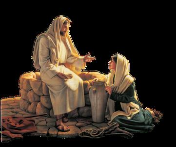 Que symbolise l'eau que nous propose Jésus ? Cette eau symbolise la foi dans son sacrifice, foi acquise et consolidée par l'enseignement de Jésus.  On peut dire que tout comme l'eau étanche la soif physique, l'eau spirituelle étanche la soif spirituelle.