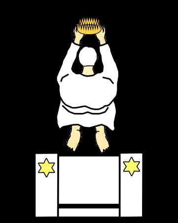 Les 24 anciens se prosternent devant Dieu et déposent leur couronne devant son trône en signe de soumission tout en glorifiant le Tout-Puissant. Malgré leur position élevée les 24 anciens attribuent toute la gloire à Dieu qu'ils honorent avec humilité.