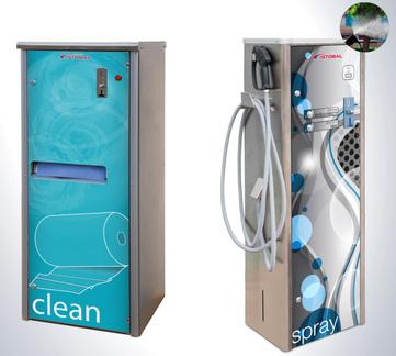 SB Papierspender, Sprayer für Waschparks, chemischer Vorreiniger