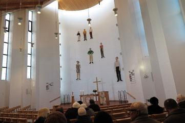 Der Innenraum der Bonhoeffer-Kirche