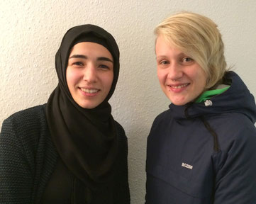 Antje Biniek (rechts) und  Şadiye Çelik-Turgut