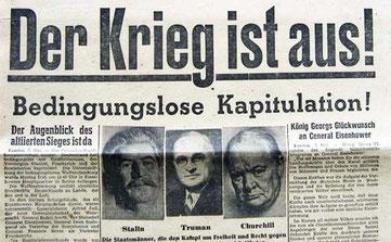 """""""Aachener Nachrichten 8. Mai 1945"""" von ACBahn - Eigenes Werk. Lizenziert unter CC BY 3.0 über Wikimedia Commons - http://commons.wikimedia.org/wiki/File:Aachener_Nachrichten_8._Mai_1945.jpg#/media/File:Aachener_Nachrichten_8._Mai_1945.jpg"""