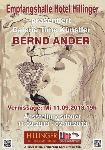 Galerie Time Ausstellung Hotel Hillinger Bernd Ander Günther Wachtl  Vinorellos Landschsften Burgenland Schauspieler Josefstadt Maler Weinsorten