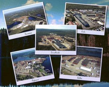 Hersteller  -Standorte in Nordfinnland - Blockhäuser - Blockhaus bauen, Holzhäuser, Hausbau, Holz, Planung, CE, PEFC, Zertifikate, Zertifizierung, Rating