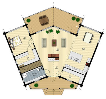 Blockhäuser - Erlesene Holzhäuser in massiver Blockbauweise - Grundrissplanung - Exklusives Designhaus in massiver Blockbauweise in vielen Variationen und Größen - Entwurfsplanung - Individuelle Grundrisse - Umweltfreundliches Bauen - Hausbau
