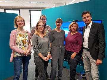 auf dem Photo: v.l Caroline Werning, Barbara Coenen, Nico Frings, Brigitte Behrendt, Nicole Finger, Andreas Terhaag MdL