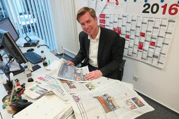 Dirk Borth in seinem Büro