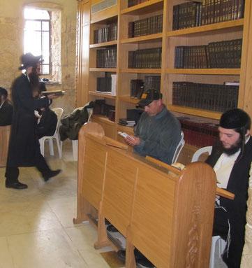 Молитва в синагоге гробницы царя Давида