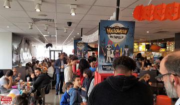 L'opération Halloween au QUICK du centre commercial Vélizy 2.
