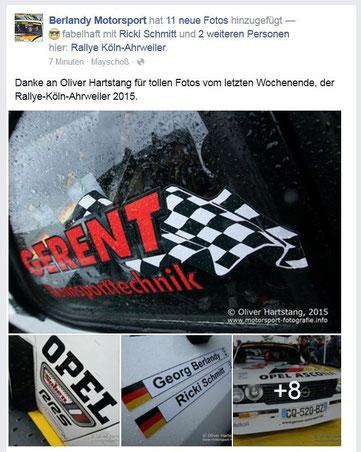 Rallye Köln-Ahrweiler 2015 / Berlandy Motorsport