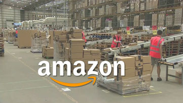 Contemporary factory run by e-commerce giant Amazon