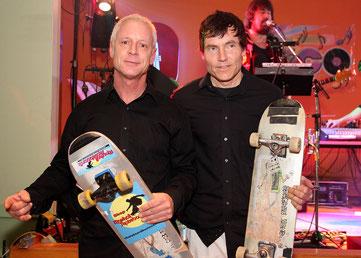 Die Skateboardmasters. Eddie Haack & Guenter Mokulys.